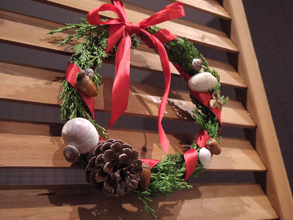 海と森の工作教室「クリスマスリース」