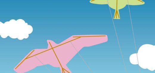 親子で挑戦!鳥凧をあげよう