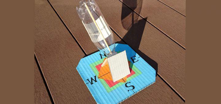 ペットボトルで日時計を作ろう