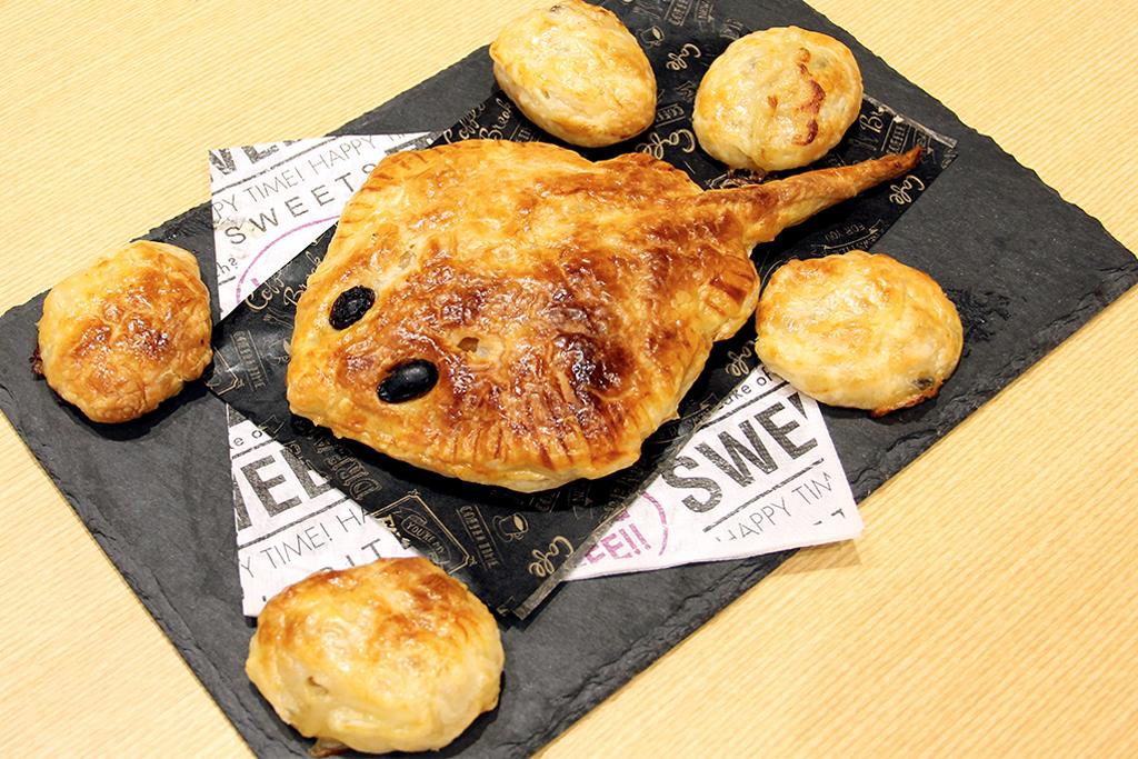 アカエイの形をしたパイ